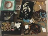 Large collection of jewelry. Amber, turquoise, geode and more.