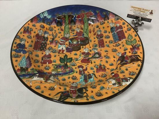 Large special handmade Turkish art platter/bowl - modeled after original 16th century ottoman design