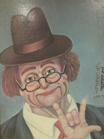 I Love You - framed Red Skelton ltd ed repro canvas print w/COA, #'d 180/5000, & signed