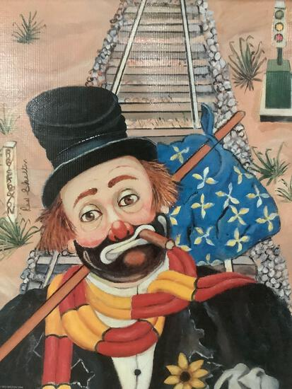 The Traveler - framed Red Skelton ltd ed repro canvas print w/ COA, #'d 732/2500 & signed