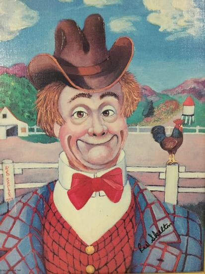 Sunday Afternoon - framed Red Skelton ltd ed repro canvas print w/COA, #'d 143/5000, & signed