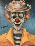 Girl Clown - framed Red Skelton ltd ed repro canvas print w/COA, #'d 330/5000 & signed