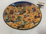 Large special handmade Turkish art platter/bowl - modeled after original 16th century ottoman design