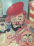 The Barber - framed Red Skelton ltd ed repro canvas print w/COA, #'d 677/2500, & signed