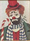 Timmy - framed Red Skelton ltd ed repro canvas print w/COA, #'d 249/5000, & signed