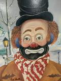 Winter Wonderland - framed Red Skelton ltd ed repro canvas print w/COA, #'d 1028/5000 & signed