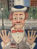 The Politician - framed Red Skelton ltd ed repro canvas print w/ COA, #'d 665/2500 & signed.