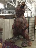 Huge 8.5 ft tall redwood chainsaw carved grizzly bear by Dayton Lanphear (2001) - see desc