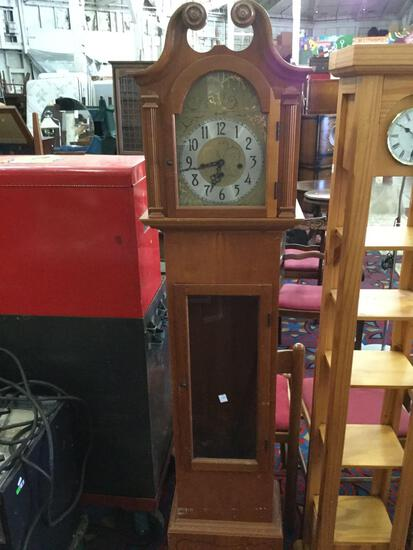 Vintage Herschede Grandfather clock. Pendulum included but unattached, Sold as is. approx 15.25 in x