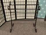 Vintage rug hanger rack. approx 33x33x11 inches.