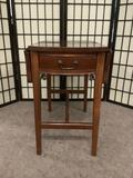 Small one-drawer drop leaf side table, some wear, see pics. Approx. 26x16x24 inches.