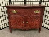 Vintage one-drawer cabinet w/gold tone hardware. Some wear, see pics.