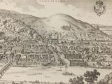 Vintage print of Heidelberg.