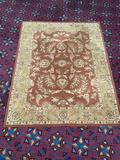 Nourison India House Collection IH58 RUS wool rug. Measures approx 8 feet by 10 feet 6 inches....