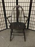 Vintage wooden arm chair.