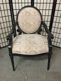 Modern upholstered arm chair.