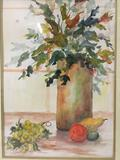 Original watercolor of plants and fruit by dolly black.