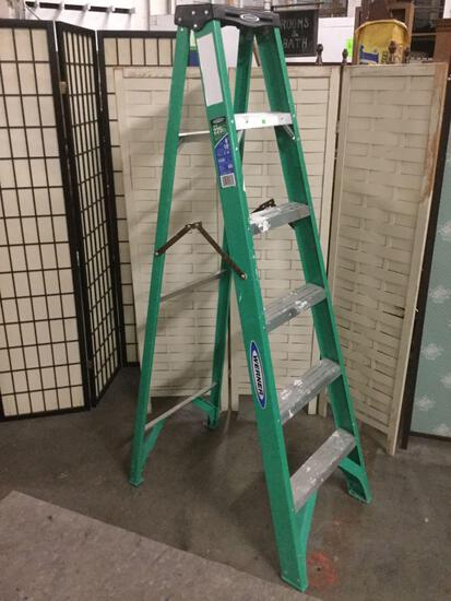 Werner type II medium duty ladder, model no. FS206, 6 ft. , 225 lbs. max, made in USA.