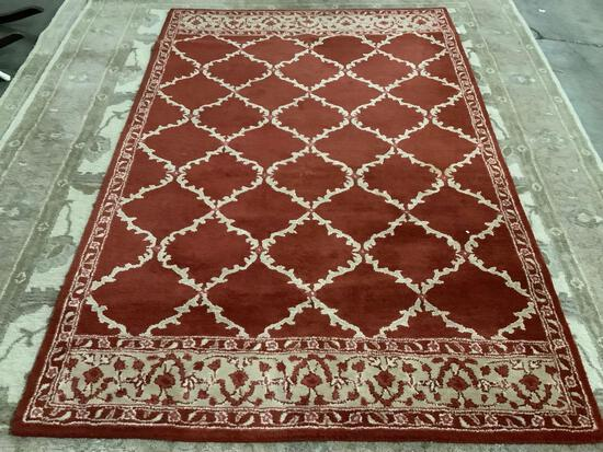 Pier 1 Imports wool rug tapis, 5ft. X 8ft. , made in India.