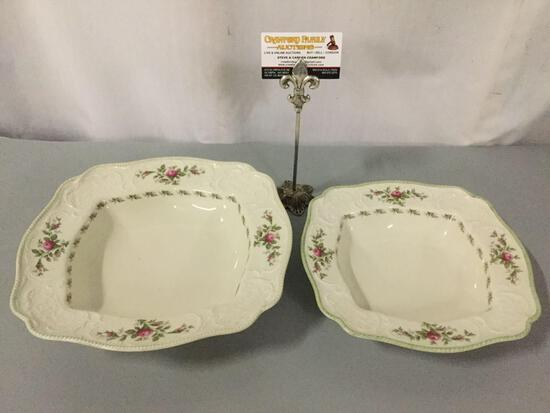 2 Rosenthal - Selb-Germany Sanssouchi US Standard design 10 Rosen, serving bowls