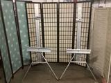 2 Stanrite aluminum studio easels No.500 - Classic - made in the U.S.A.. Approx. 35x30x68 inches