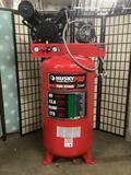 80 gallon Husky Pro 2-stage air compressor No.HS781003AJ, approx. 40x27x69 inches.