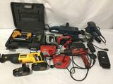 Collection of pneumatic, cordless, corded electric power tools. Bosch, Milwaukee, DeWalt, Bostitch