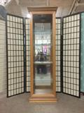 Pulaski Furnitue Co. curio cabinet w/4 glass shelves & mirror back. Tested and working