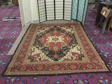 Nourison Paramount Collection rug w/blended Persian & contemporary designs, approx. 94x126 inches.