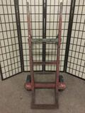 Antique heavy duty wood & metal hand truck, Approx. 34x26x52 inches.