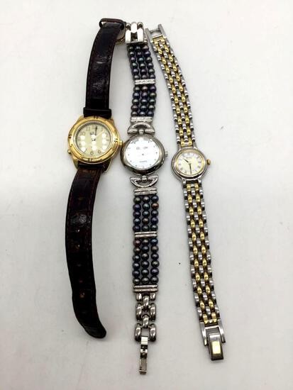 Collection of 3 watches. Timex, Croton, and seiko.