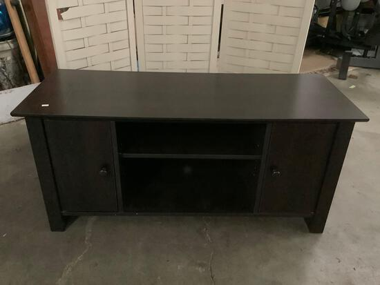 Modern entertainment center / TV stand with 2 cabinets, approx 17 x 43 x 20 inches