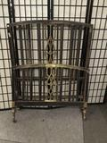 Vintage metal twin bed frame with no rails.