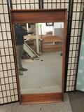 Vintage wood vanity mirror. approx 61x31x2 inches.