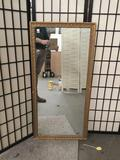 Antique gesso frame mirror.