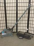 lot of 2: Palmgren mountable vice clamp & German HR Mubea 3/5R slicing machine approx. 51x15x7 in.