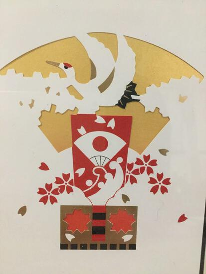 Cut paper Japanese art.