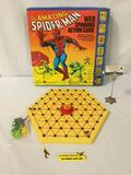 1979 Ideal Toys - Amazing Spider-Man Web Spinning Action Game board game w/plastic character pieces