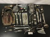 Large lot of vintage and modern hand tools.
