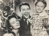 Photograph signed by Karolyn Grimes, Zuzu in Its a Wonderful Life.