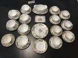 37 pieces of Bavaria and Dresden Royal pattern china.