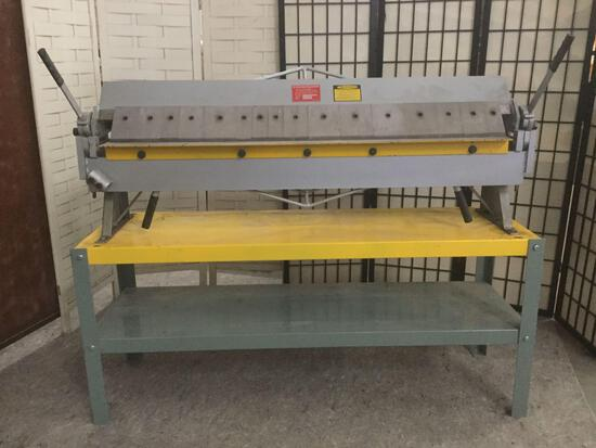 48 inch sheet metal pan & box brake No. 4816 for bending sheet metal, tested/working 57x18x45 inches