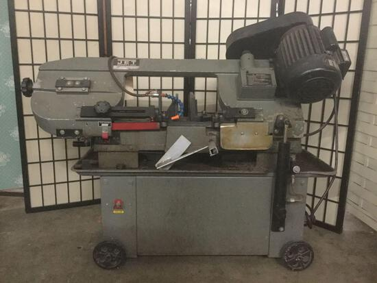 Jet Equipment & Tools horizontal/vertical bandsaw w/wheels, tested/working but requires maintenance
