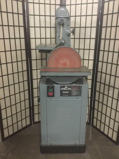 Large Delta disc/belt sander No. 52-611 in great condition 25x20x58 inches