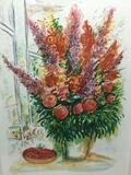 RARE Limited edition hand signed and numbered Marc Chagall still life flower print. #ed 96/250.