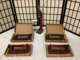 4 Armstrong C clamps No.78-106, & 1 Everedy Co. gear top. Approx. 22x16x12 inches.