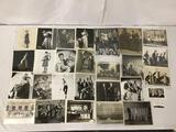 28 antique/vintage photos of actors, musicians and groups, 11 of which are signed/autographed