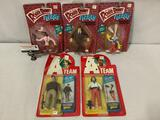 5x vintage TV/Movie action figures in sealed packages: Who Framed Roger Rabbit? - The A-Team
