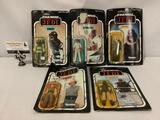 5x vintage 1993 Kenner Star Wars action figures in sealed packages, card/bubble show wear, see pics