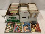 3 short boxes w/approx 300 Super Hero comic books: Marvel, DC Comics, Gold Key, Dell, Disney, Archie